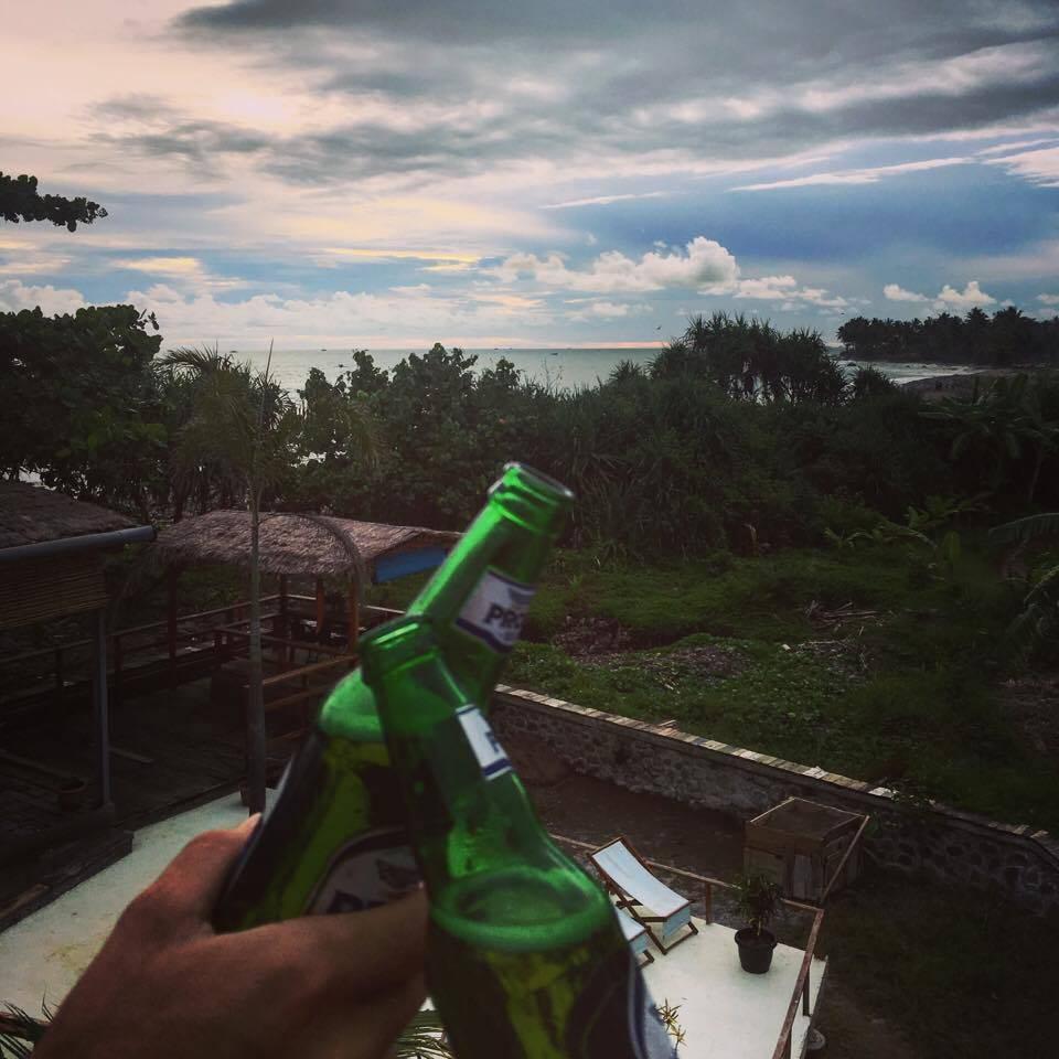 Sunset beer at Cimaja Beach Club