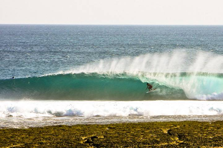 Surfing Rote Island