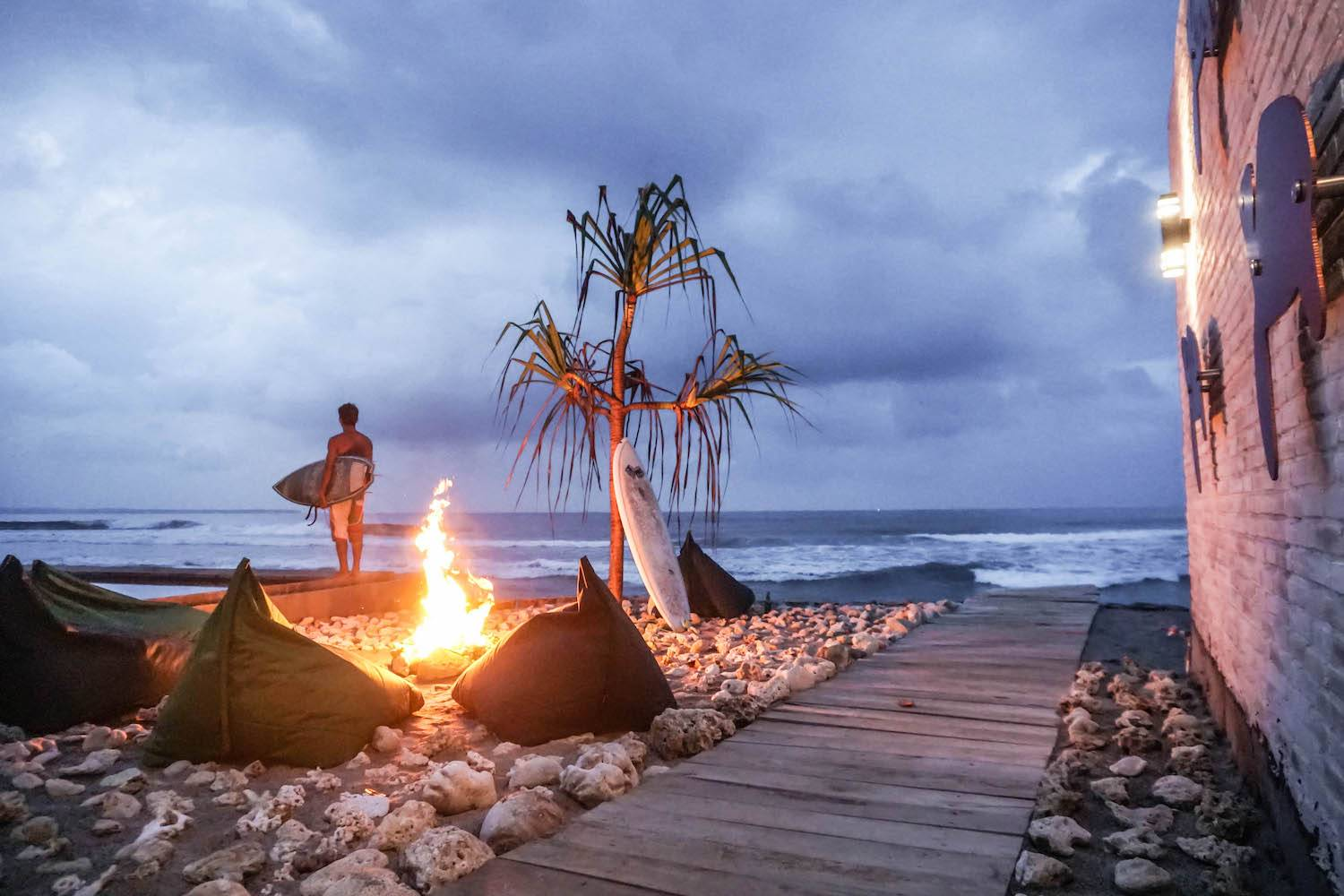 Surfing Krui Cabana Surf and Stay